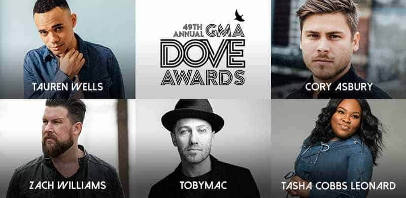 The 49th Annual GMA Dove Awards Nominees Announced Today with Tauren Wells Leading Artist Nominations with Eight and Zach Williams with Six
