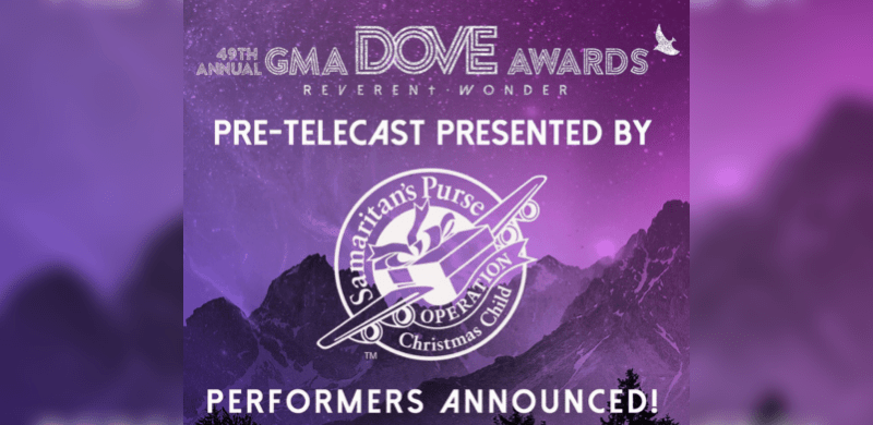 49th Annual Dove Awards Pre-Telecast Performer Lineup Announced