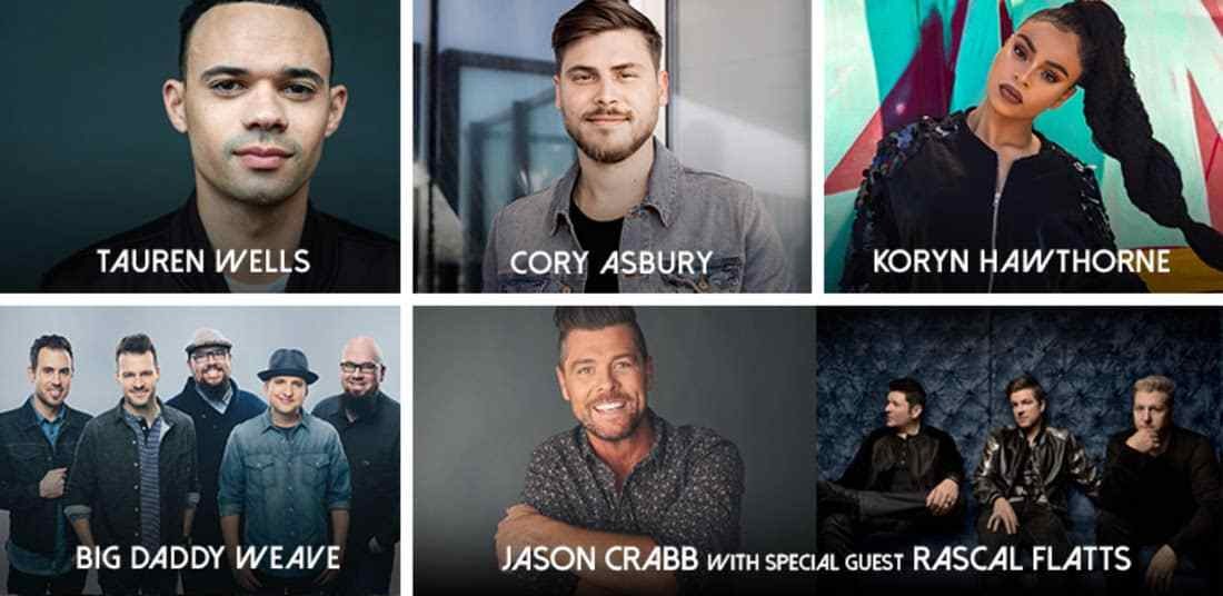 Big Daddy Weave, Cory Asbury, Koryn Hawthorne and Tauren Wells Set to Perform at 49th Annual GMA Dove Awards