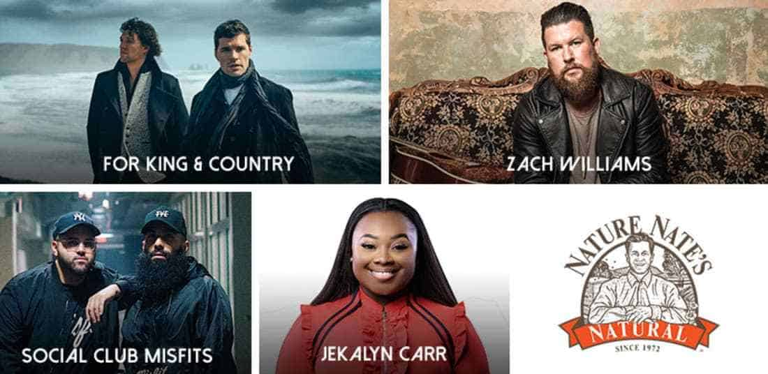 for KING & COUNTRY, Jekalyn Carr, Social Club Misfits and Zach Williams added to 49th Annual GMA Dove Awards, October 16th