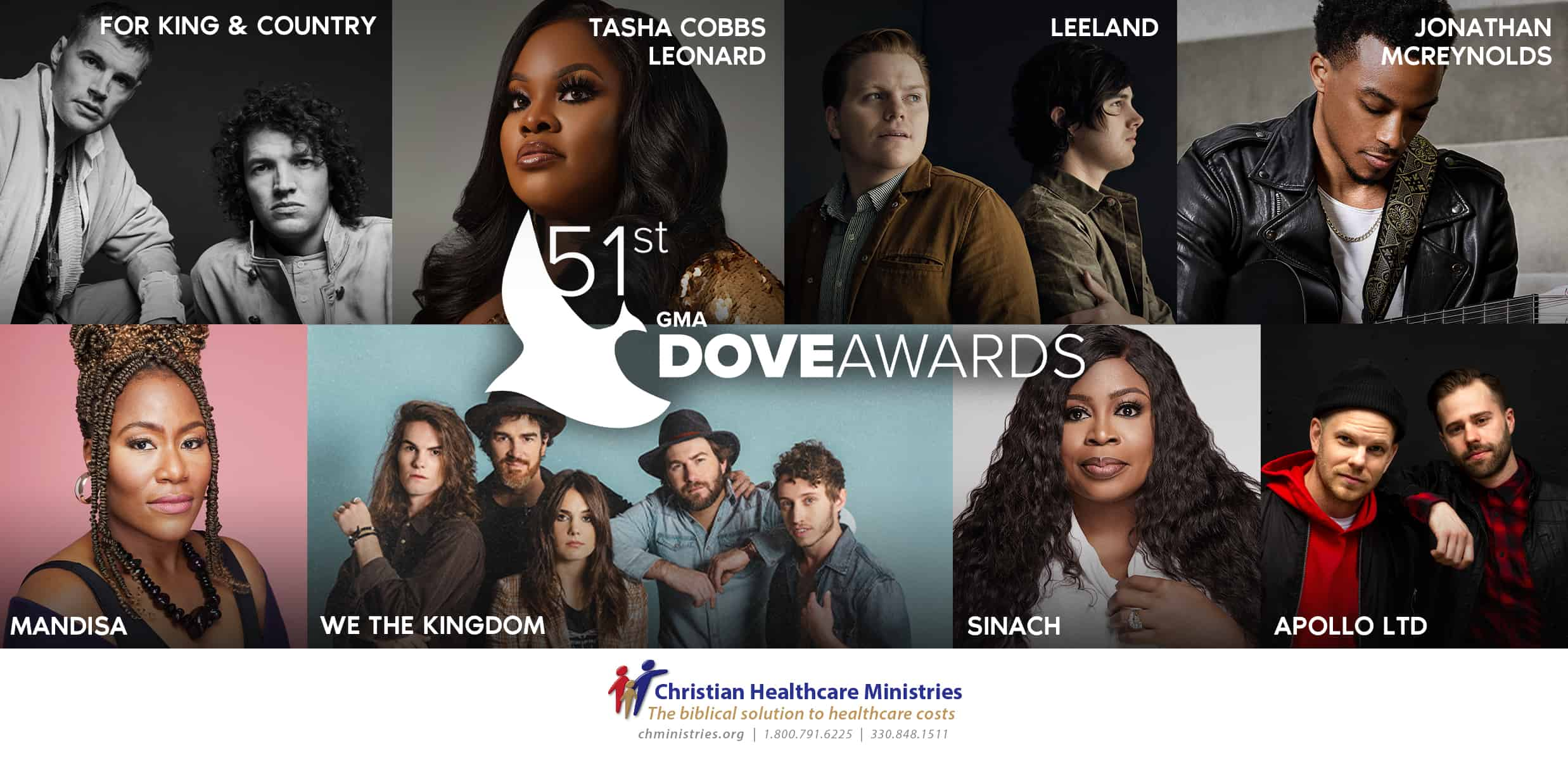 The Gospel Music Association Reveals First Round Of Performers For The 51st Annual GMA Dove Awards