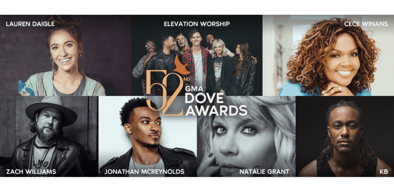 Co-Hosts and First Round Performers Announced for the 52nd GMA Dove Awards